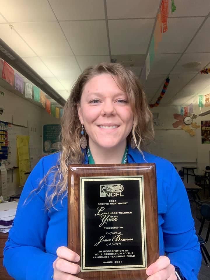 Photo of the PNCFL teacher of the year 2020 Jaime Basham